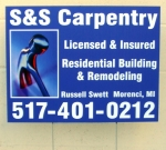 S&S Carpentry Sign